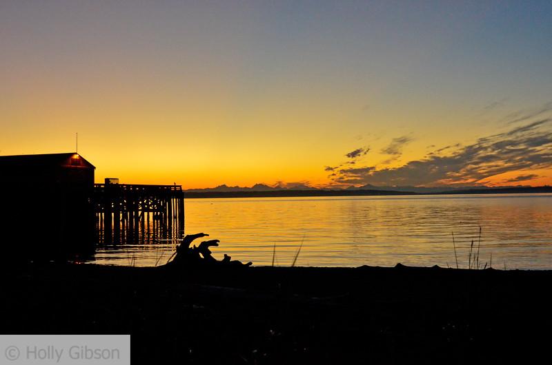 Sunrise at Fort Worden - Puget Sound - 123