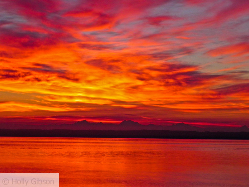 Sunrise over Puget Sound - 76