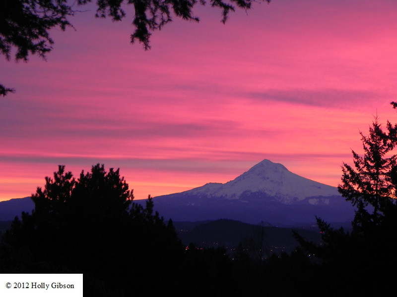 Mt. Hood at sunrise (a rare thing to see in January) - 4