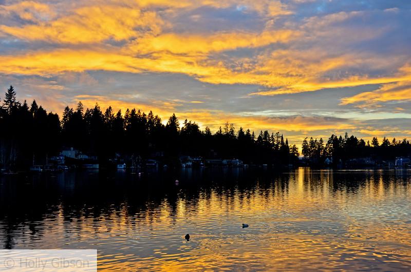 Lake Oswego at sunset - 117
