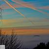 Island of fog at sunrise - 100