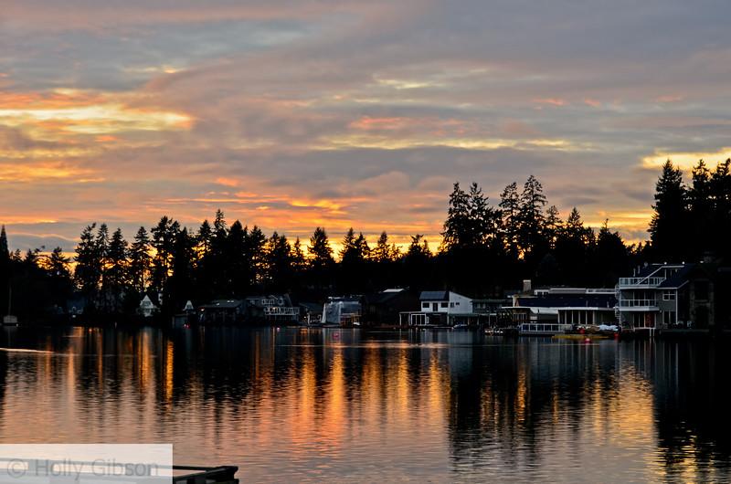 Lake sunset - 112