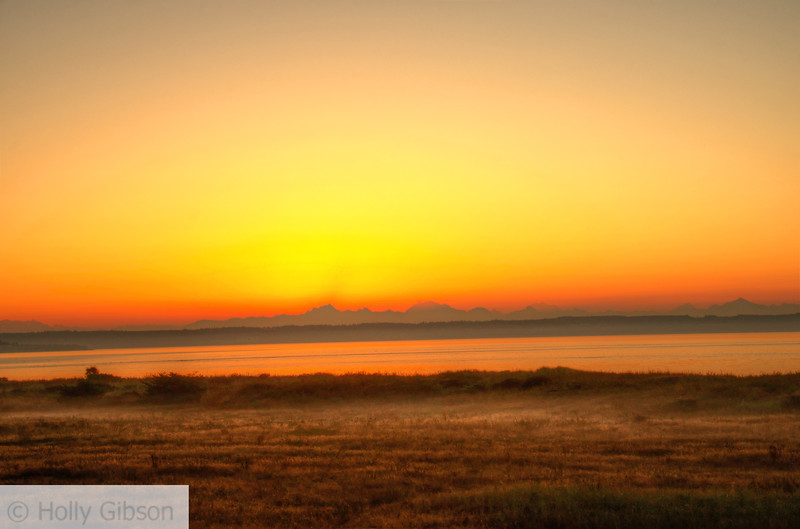 Sunrise over Cascades- Ft. Worden State Park - 198