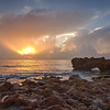 Coral Cove...Jupiter, Florida   The rock formations are natural limestone.