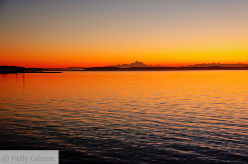 Mt. Baker at sunrise- Ft. Worden State Park  - 190