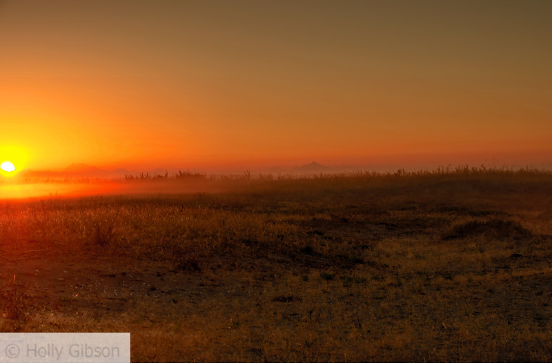 Sunrise over Cascades - Ft. Worden State Park - 201