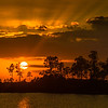Sunset in the Everglades..