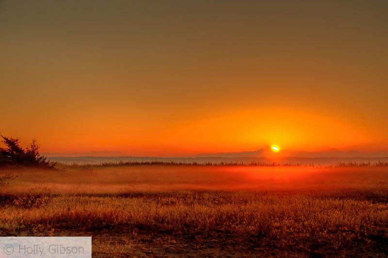 Sunrise over Mt. Baker - Ft. Worden State Park - 200
