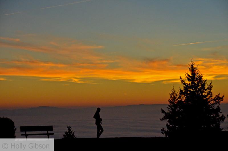 Foggy sunset on Nansen Summit - Portland Oregon - 97
