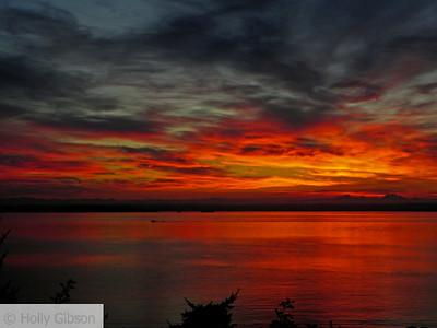 Sunrise over Puget Sound