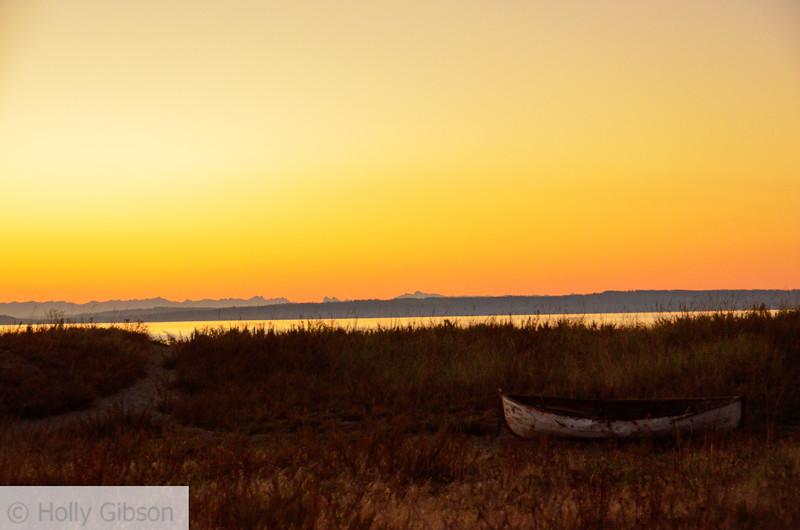 Old boat at sunrise - 137