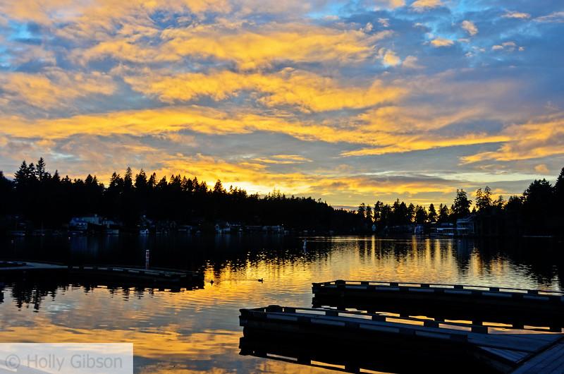 Sunset on the lake - 116