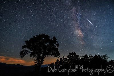 Milky Way and International Space Station