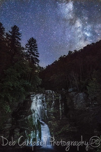 Milky Way over Bald River Falls