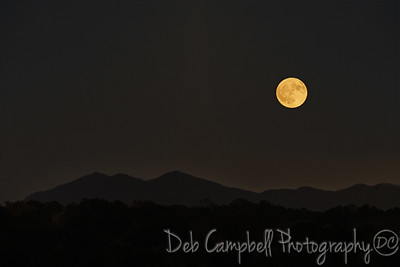 Harvest Moon over Three Sisters