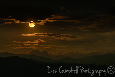 Harvest Moon over the Smokies