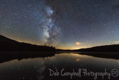 Milky Way over Indian Boundary Lake