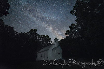 Milky Way over Missionary Baptist Church