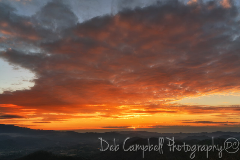 Sunset on New Foothills Parkway