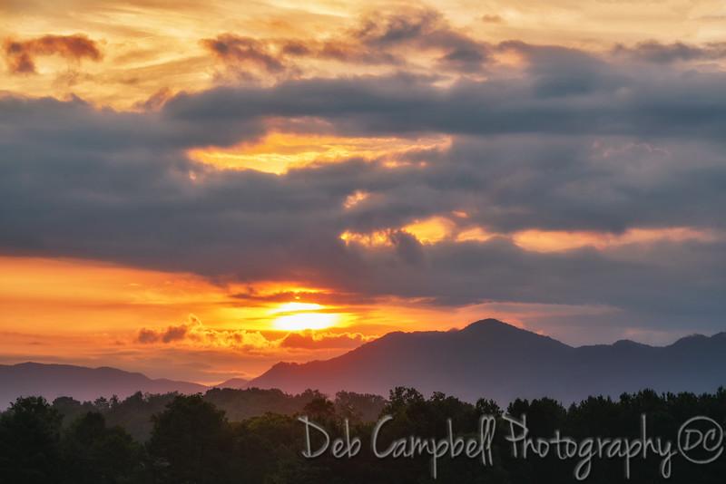 Sunrise over Chilhowee Mountain