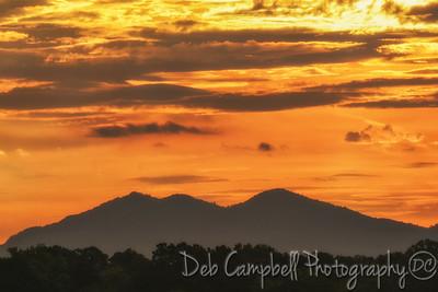 Sunrise over the Three Sisters