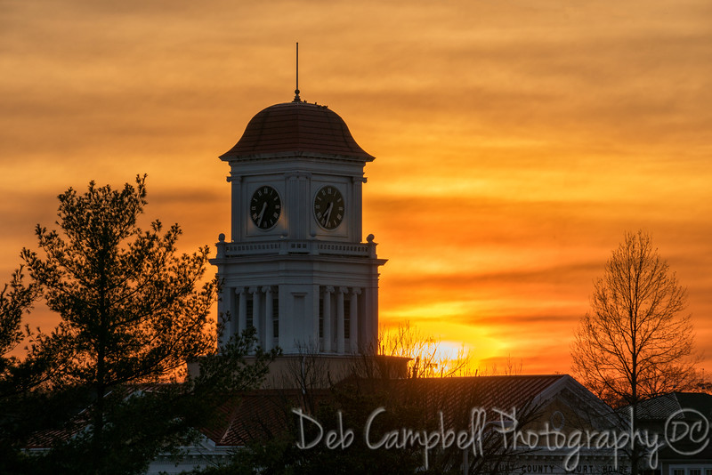 Blount County Courthouse at Sunset