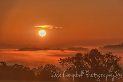 Sunrise over the Cherokee National Forest