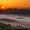 Sunrise with fog in the valley<br /> Foothills Parkway West<br /> Blount County, Tennessee