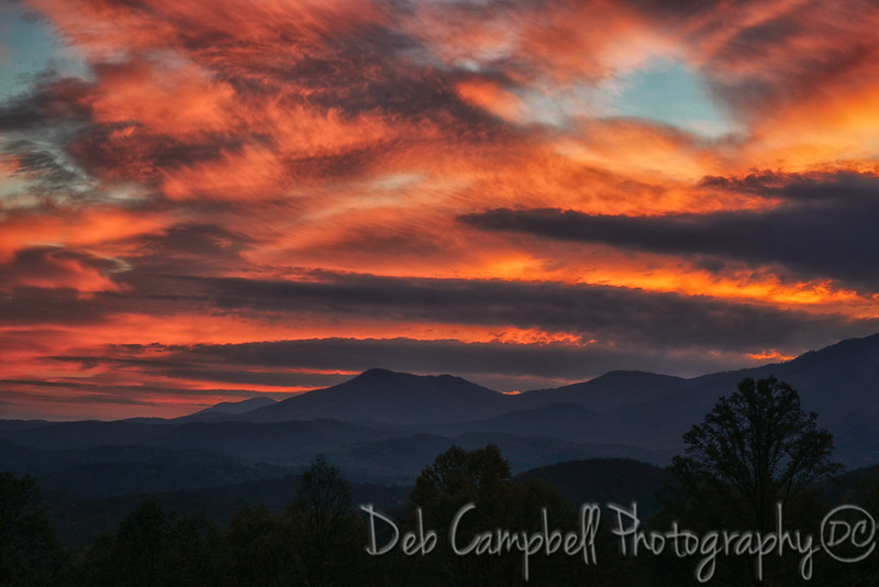 Sunrise Skies over the Smokies