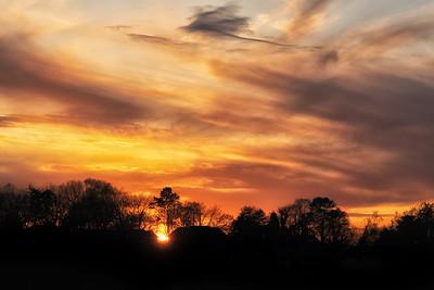 Sunset in Maryville