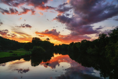 Sunset on the Little River