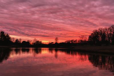 Heritage Pond Sunset