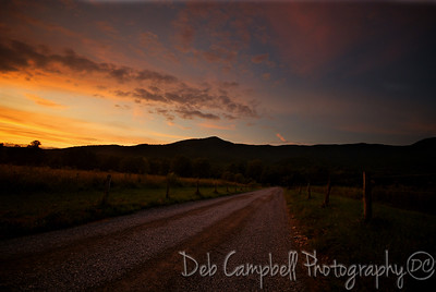 Sunset on Sparks Lane Cades Cove~Great Smoky Mountains