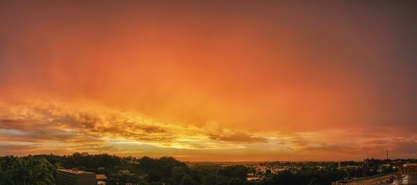 Sunset through the rain