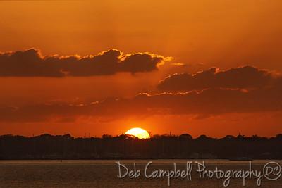 Sunset near  Merritt Island Wildlife Refuge Titusville, Florida
