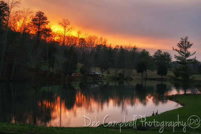 Sunset on the Pond at Allisons