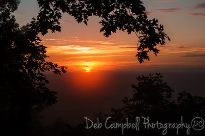 Summer Sunset Foothills Parkway West Blount County, Tennessee