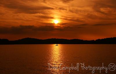 Sunset at Louisville Point Blount Co. Tn