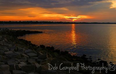 Sunset at the  Jensen Beach Causeway Florida
