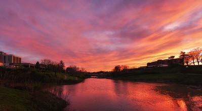 Sunset at Greenbelt Lake