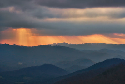 Sunset Rays over Townsend