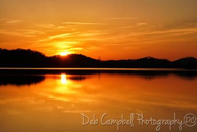 Sunset on Chilhowee Lake