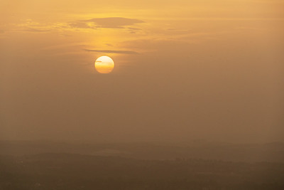 Sahara dust storm Sunset