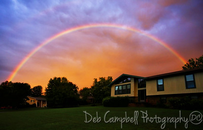 Full rainbow over my house. Maryville, Tn