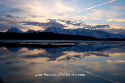 Jackson Lake at Sunset