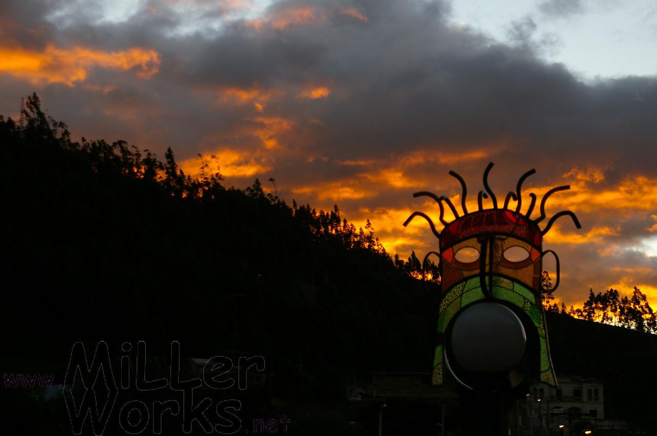 Sunset in Otavalo