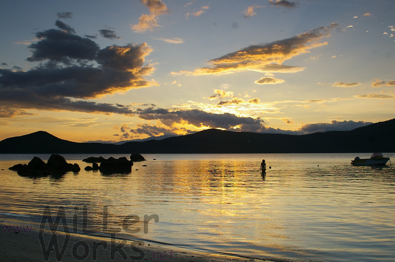 Sunset on Whale Island