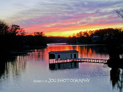"""Boathouse at Dusk"""