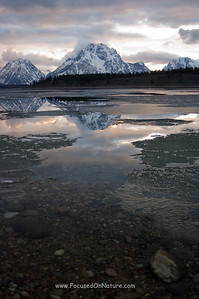 Mt Moran Sunset Reflection