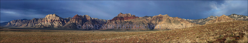 Sunrise over Red Rock Escarpment.
